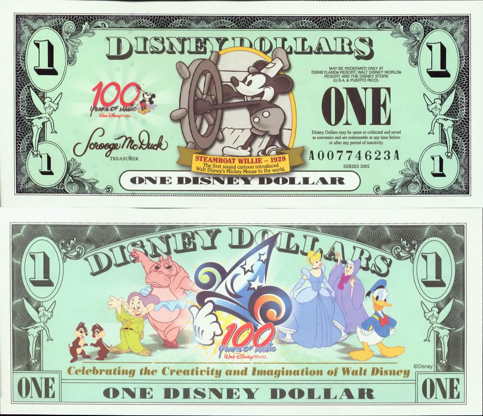 image about Disney Dollars Printable called - Disney Cash