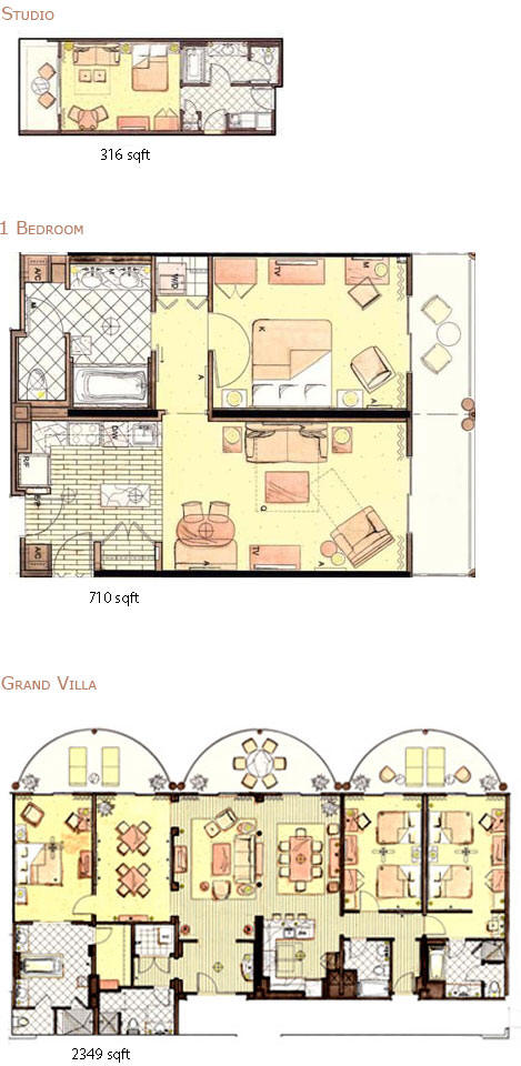 Index of maps wdw rooms from kingdom magic vacations for Apartment design map